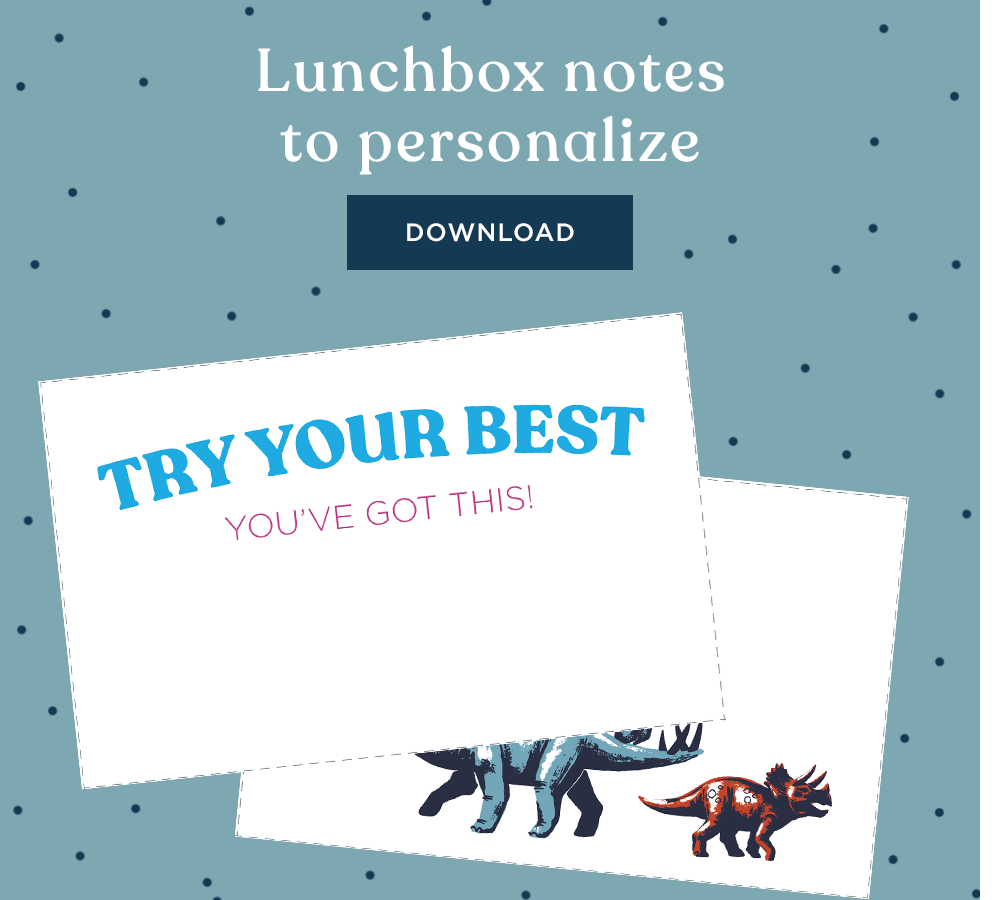 Lunchbox notes to personalize