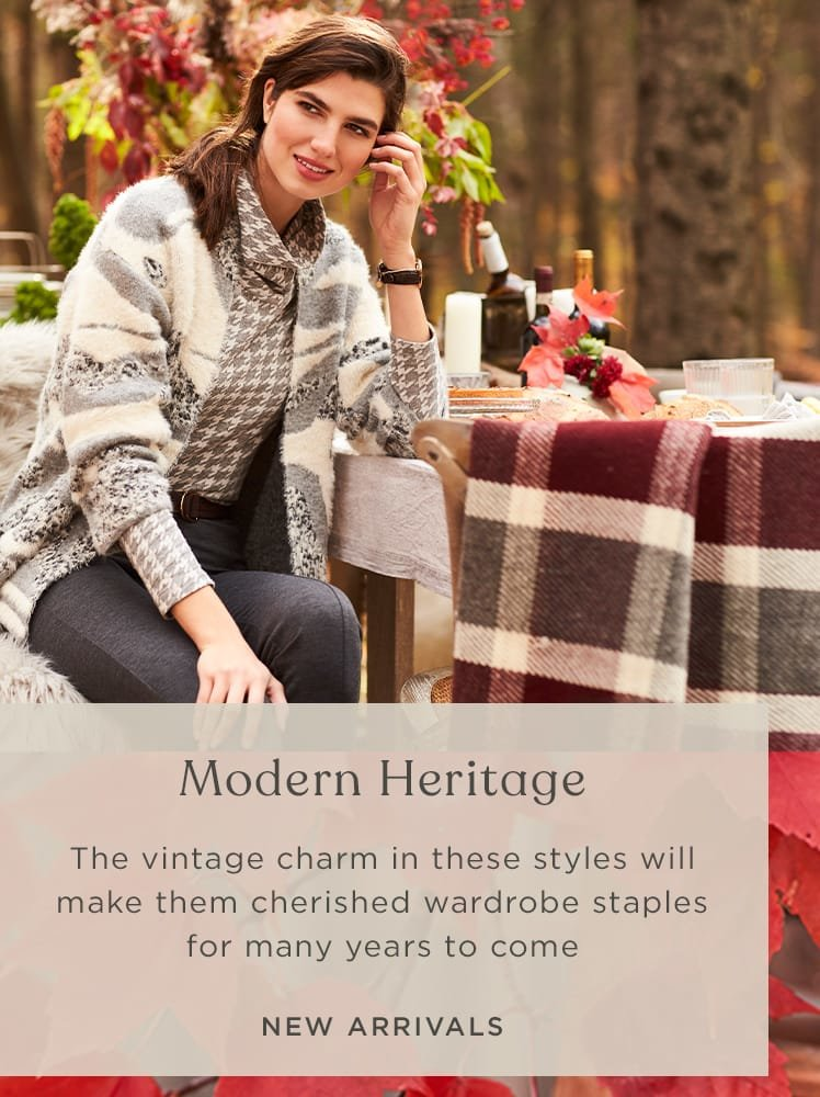 Modern Heritage- shop our new arrivals