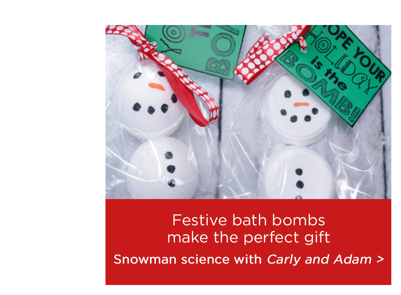 Festive bath bombs make the perfect gift