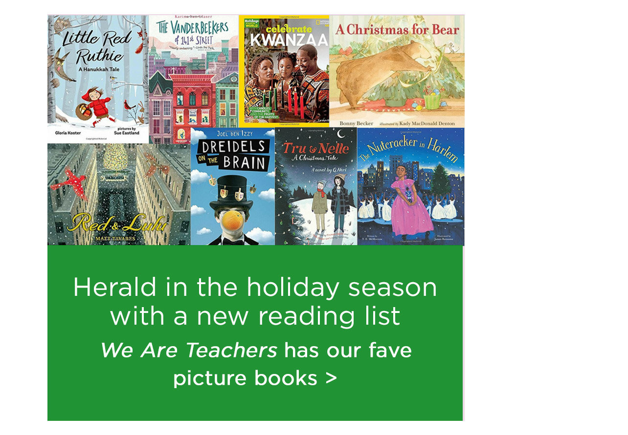 Herald in the holiday season with a new reading list