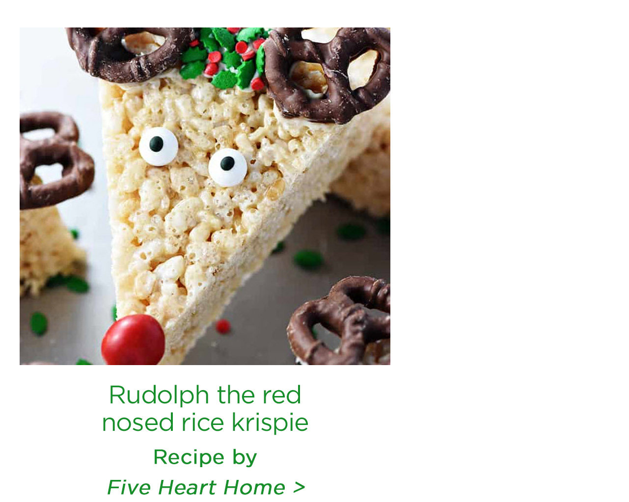 Rudolph the red nosed rice krispie