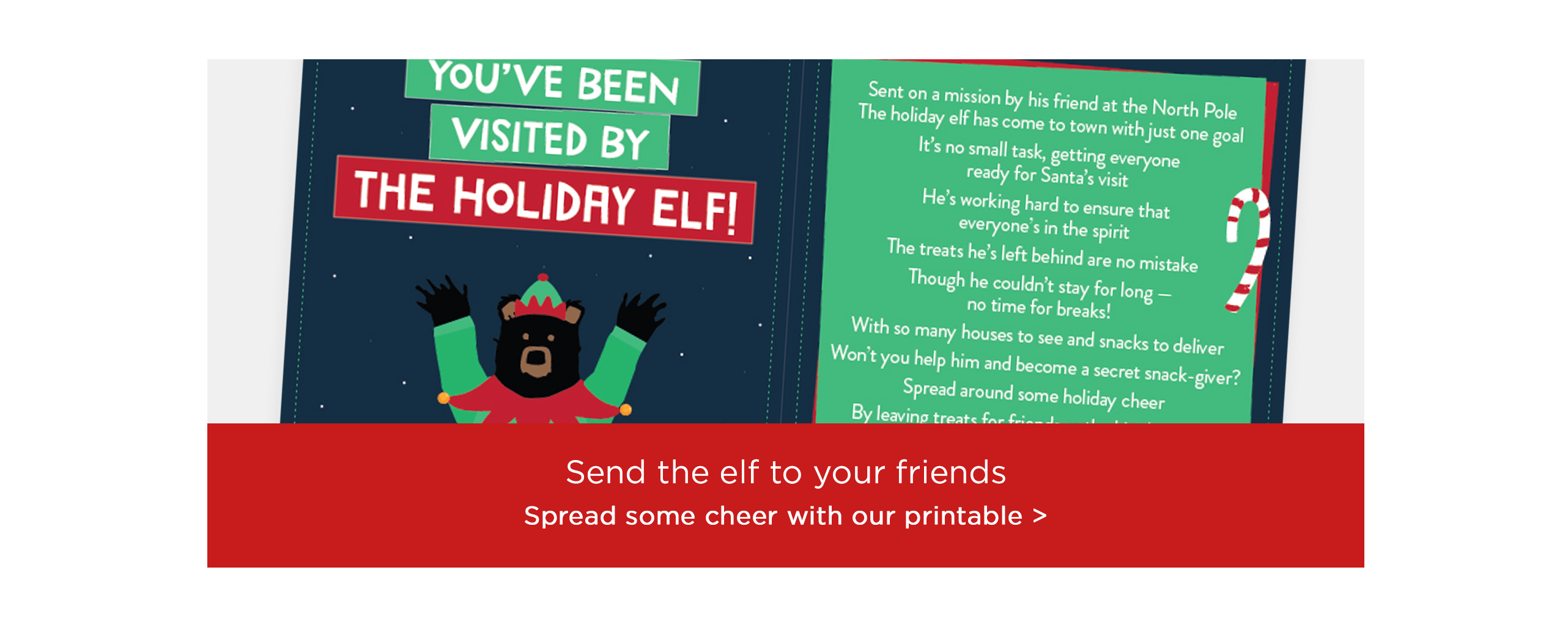 Spread some cheer with our holiday printable