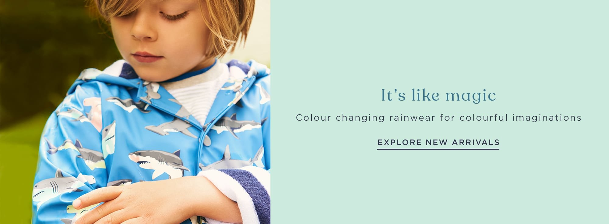 Shop new arrivals in rainwear