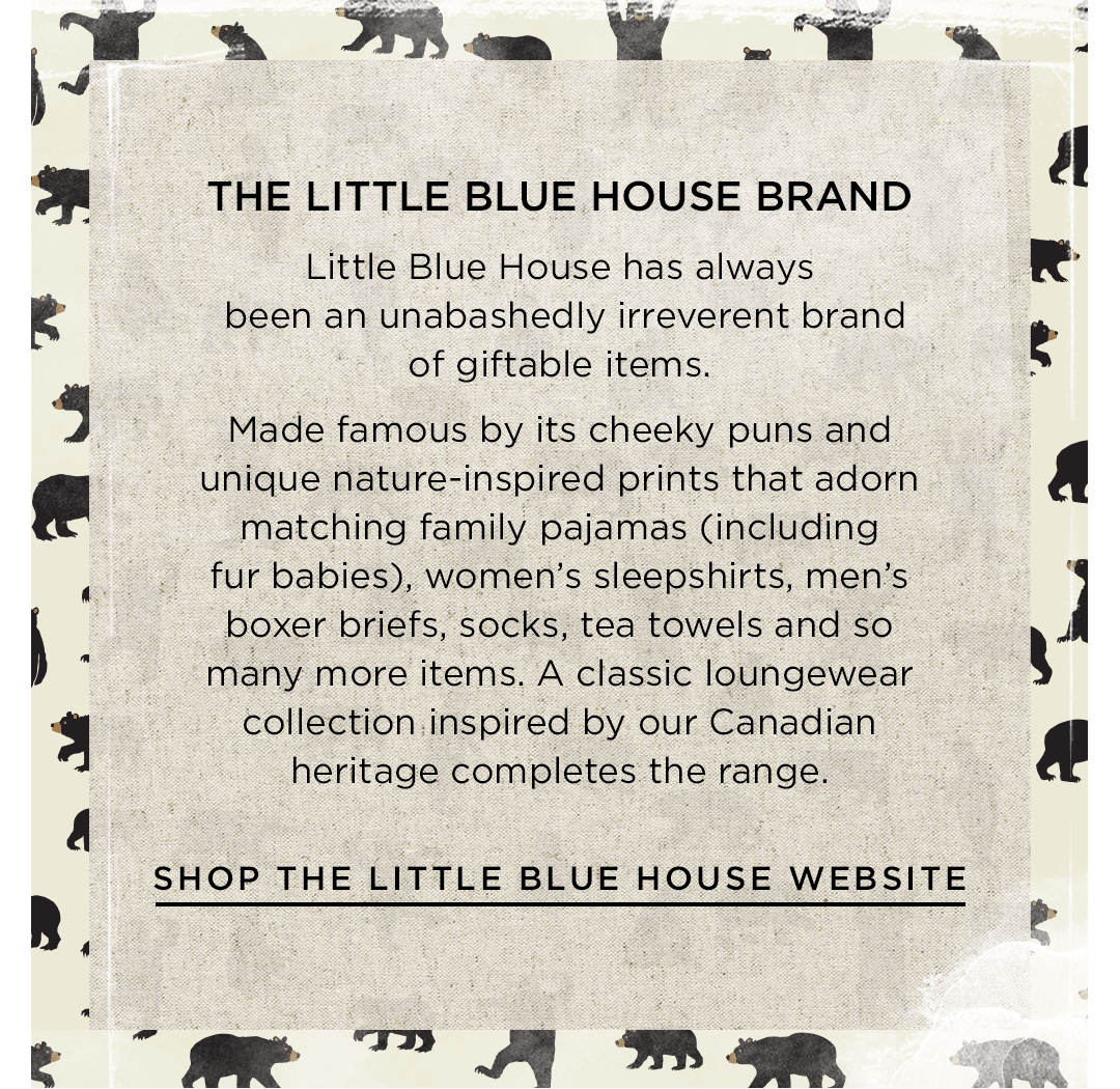 Shop the Little Blue House website