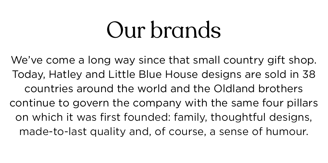 Our brands: sold in 38 countries around the world