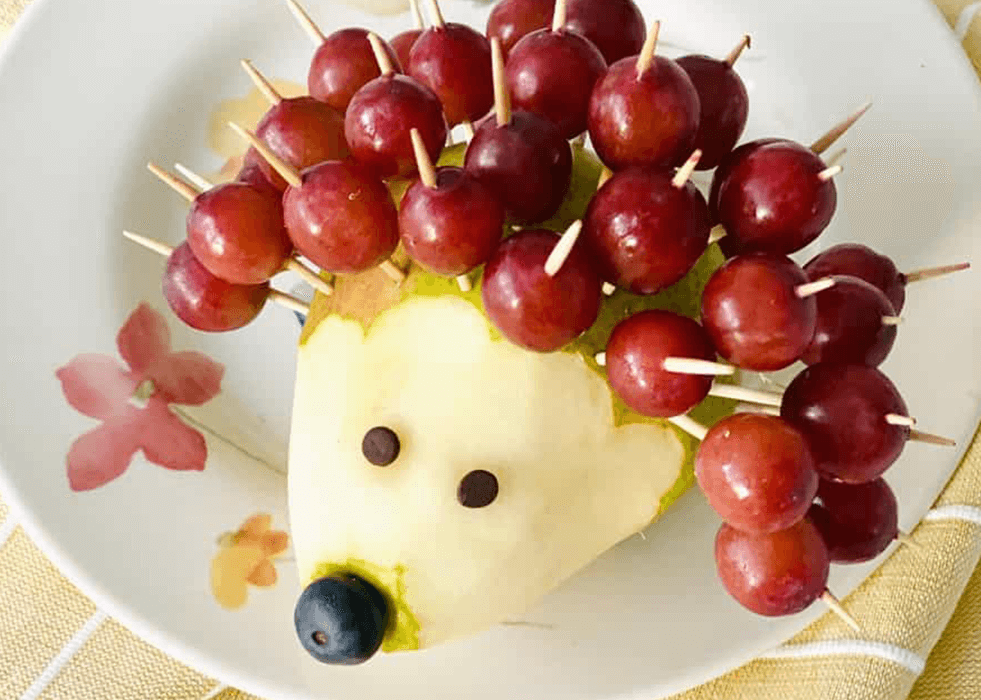 Try this grape hedgehog by Hello Yummy