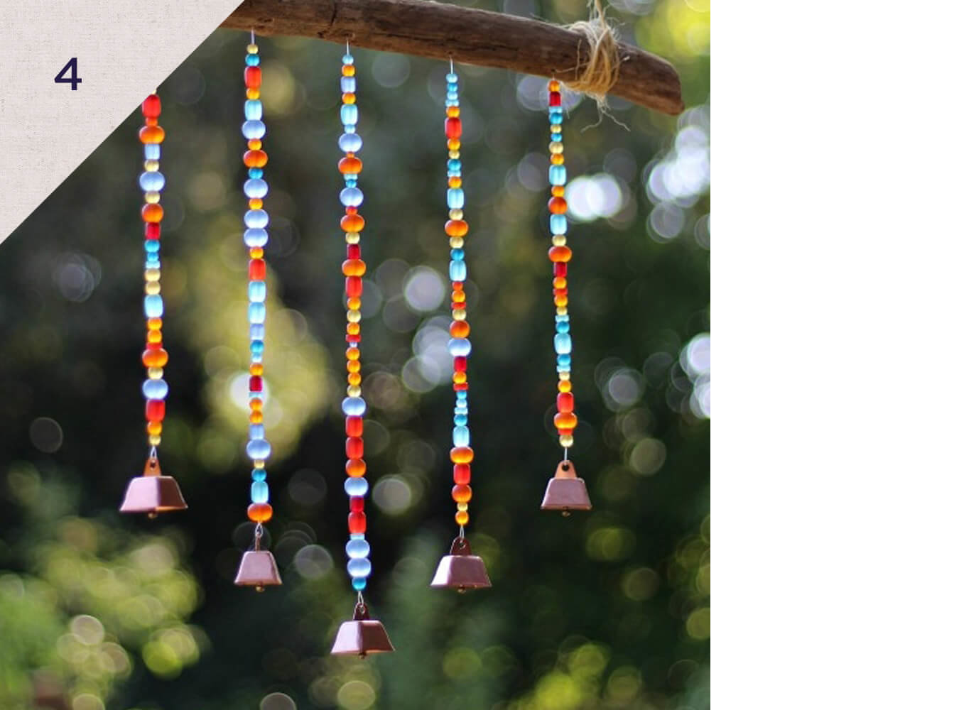 Easy sea glass wind chimes DIY - Rhythms of Play has the instructions