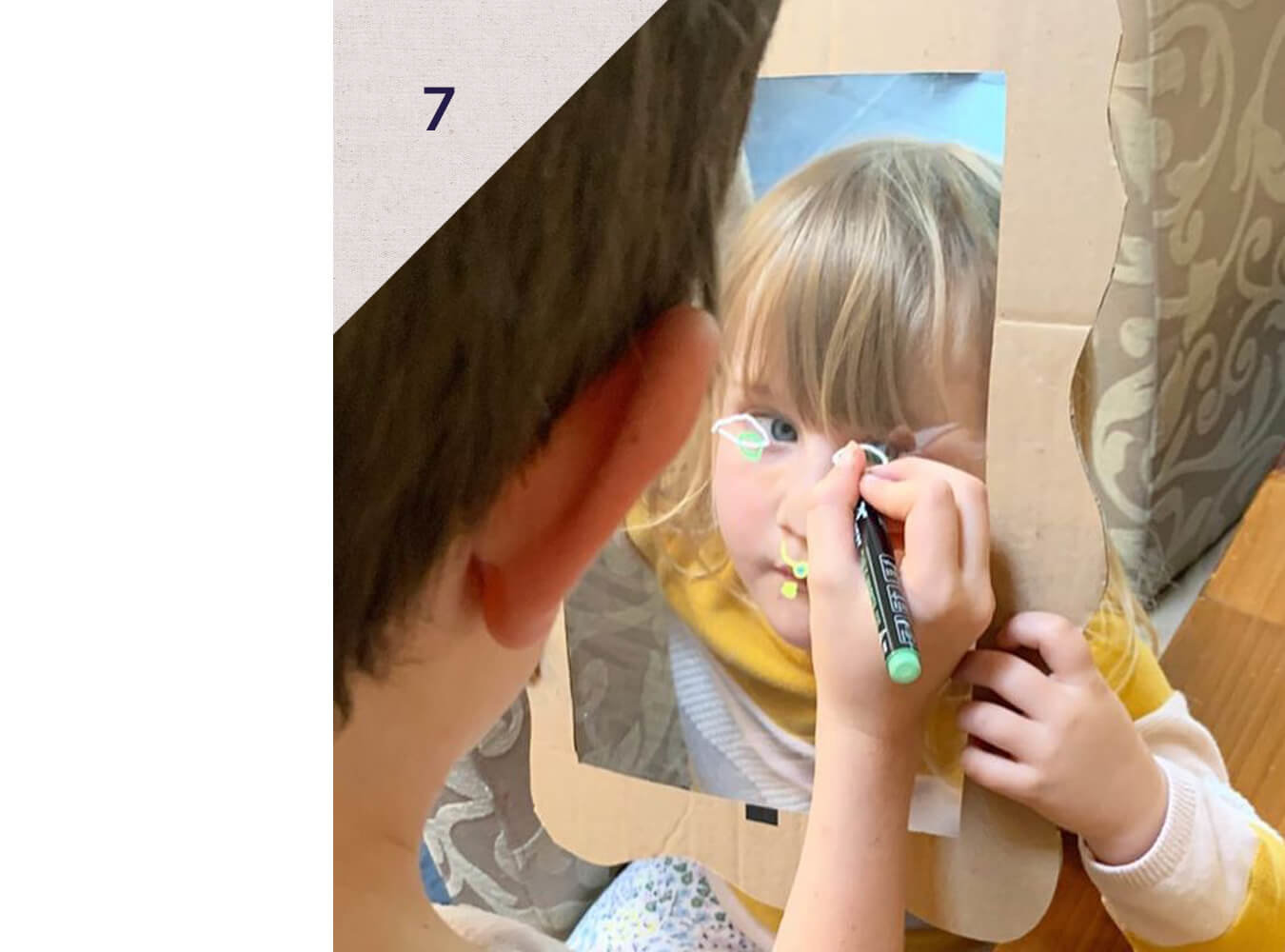 Have your littles draw Crazy Portraits of each other -  An easy how-to with Treasure Trays