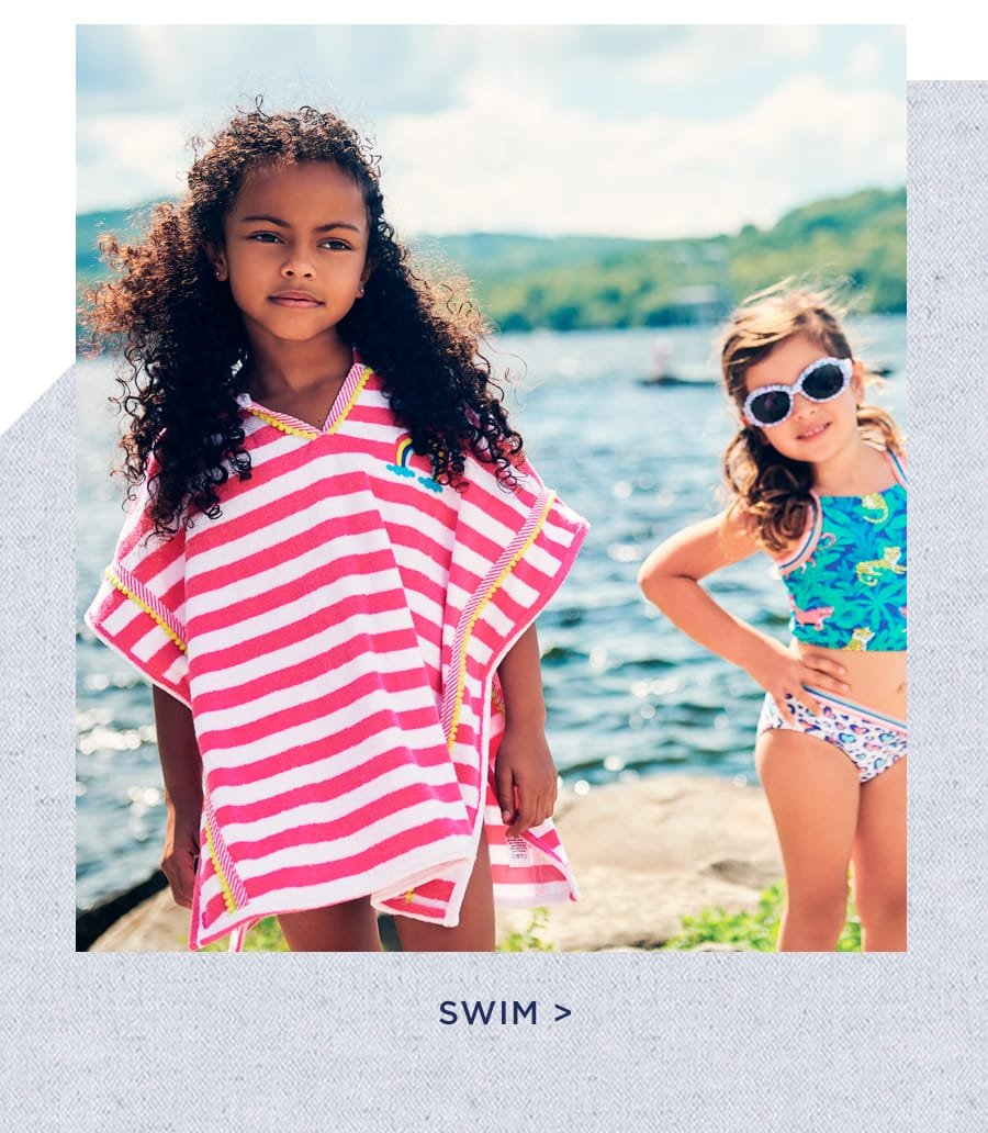 shop girls' swimwear