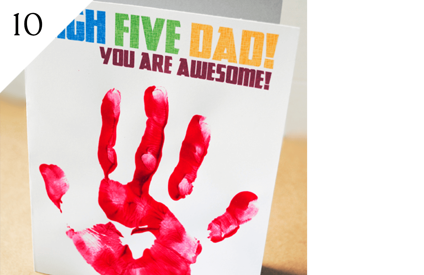 Free high-five printable on Pepper Scraps