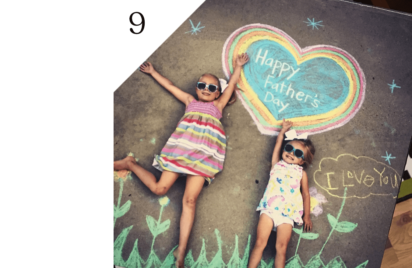 Instructions for this life-sized chalk art project from Crafty Texas Girl