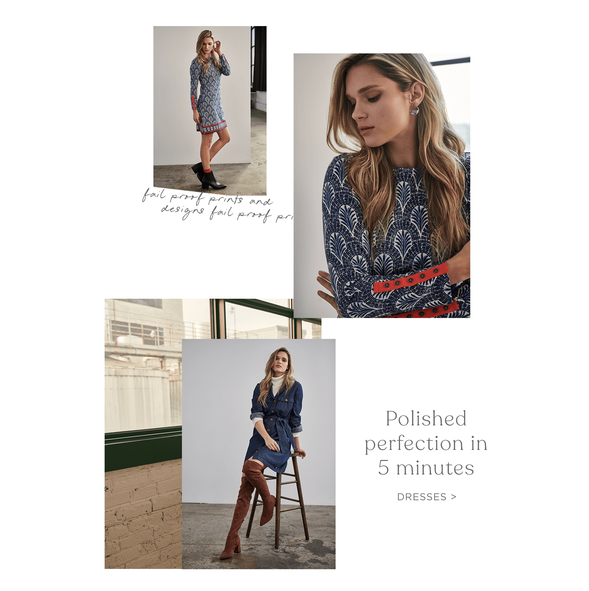 Polished perfection in 5 minutes. Shop new dresses.