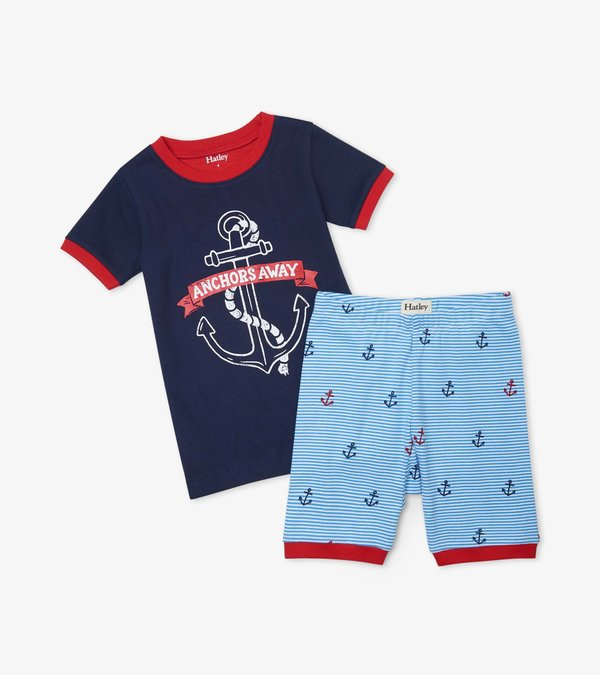 Anchors Away Organic Cotton Short Pajama Set