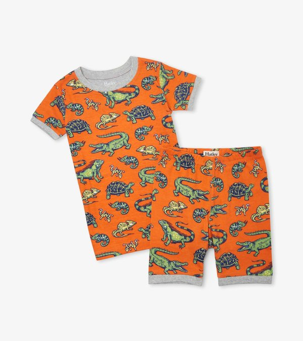 Aquatic Reptiles Organic Cotton Short Pajama Set