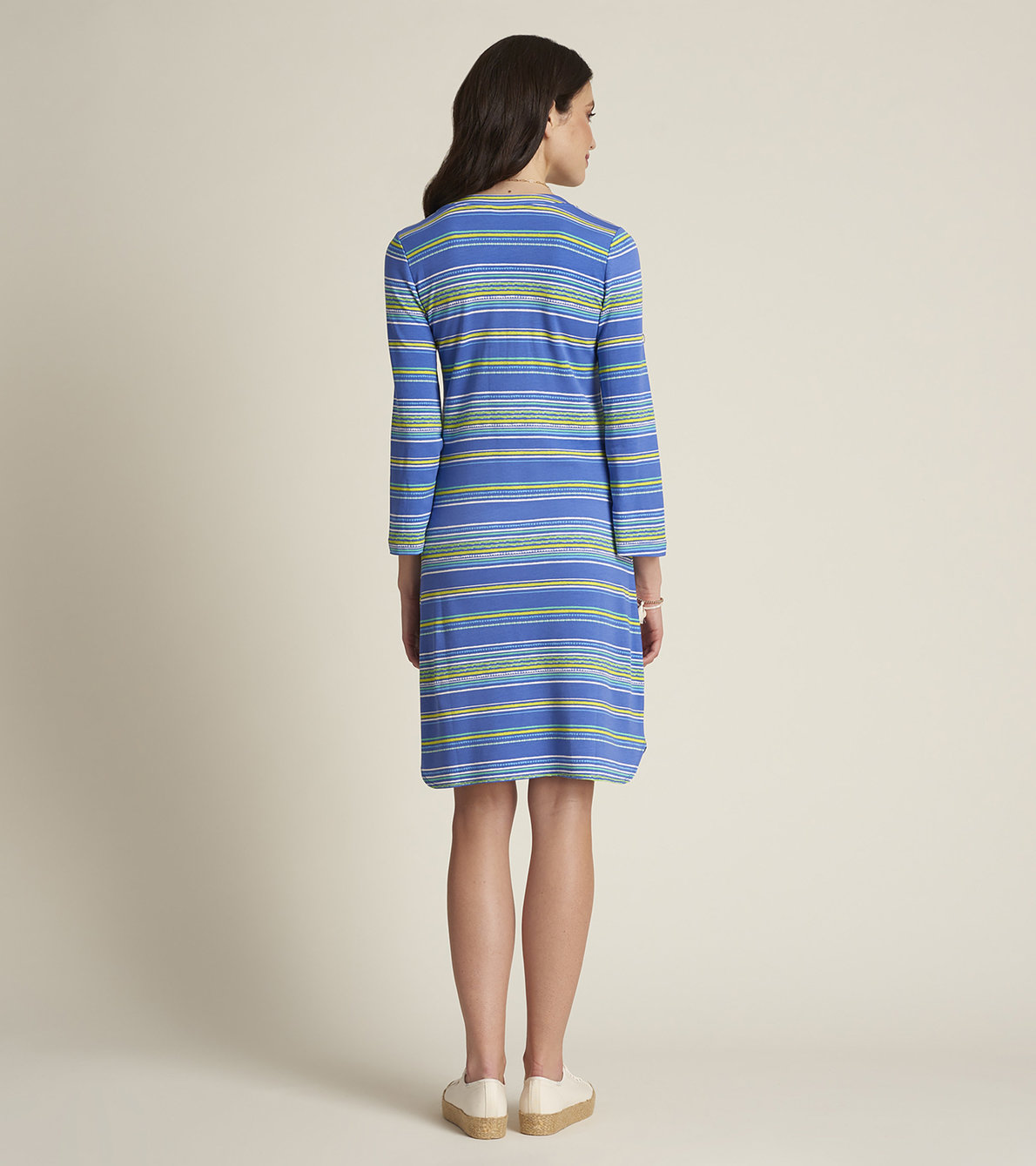 View larger image of Ashley Dress - Tropical Stripes