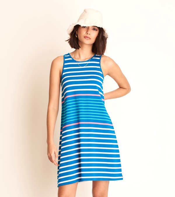 Bella Tank Dress - Coastal Stripes