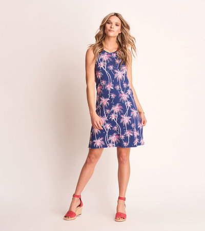 Bella Tank Dress - Palm Mirage