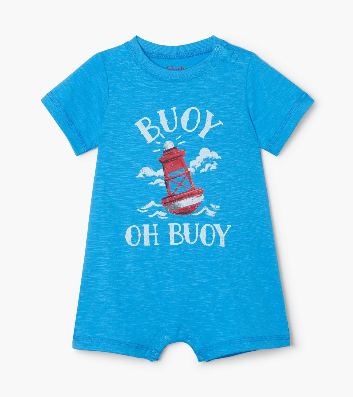 View larger image of Blue Nautical Baby Romper