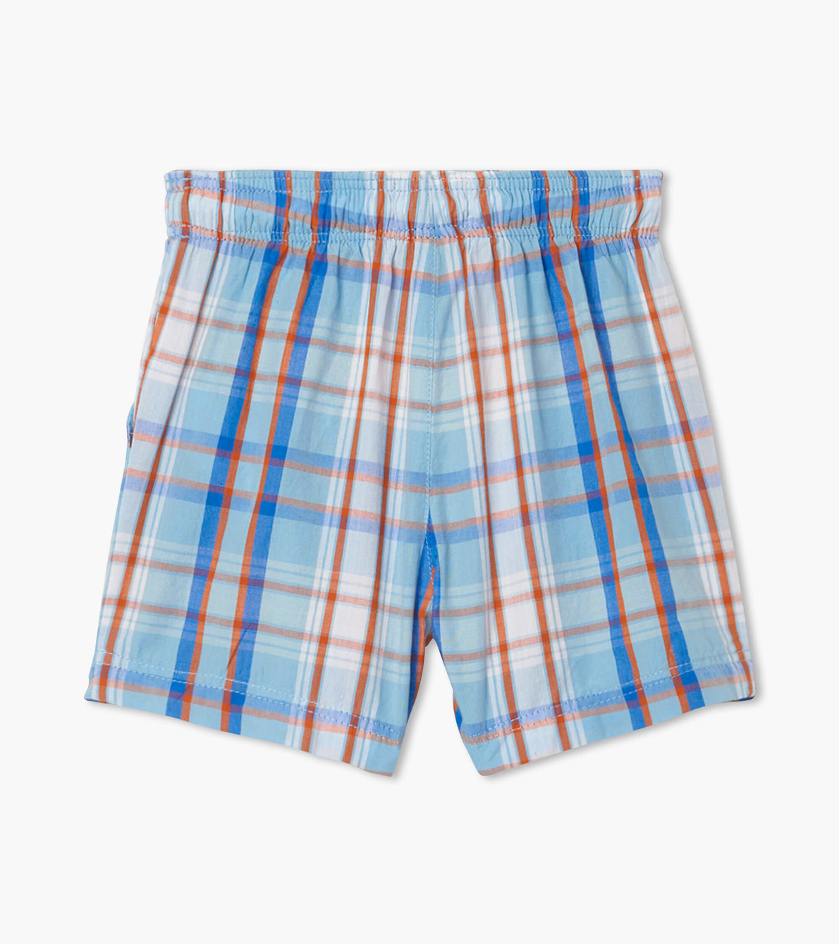 View larger image of Blue Plaid Baby Woven Shorts