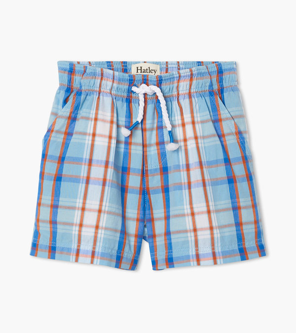 Blue Plaid Baby Woven Shorts