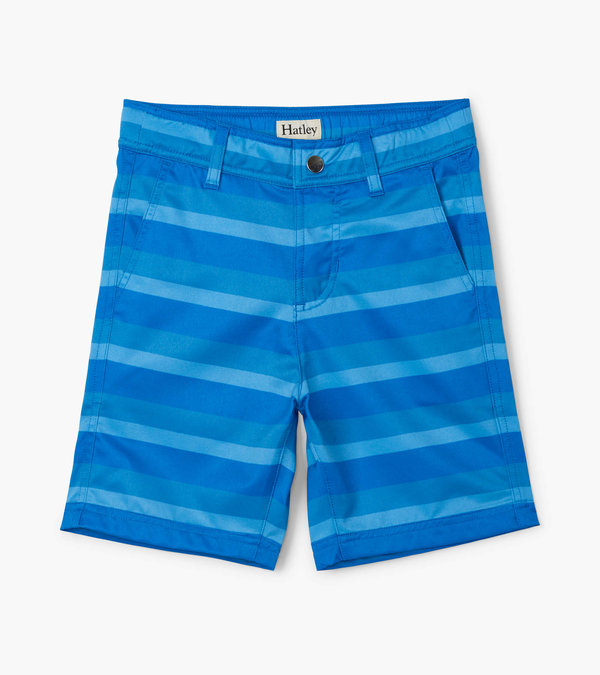 Blue Stripe Quick Dry Shorts