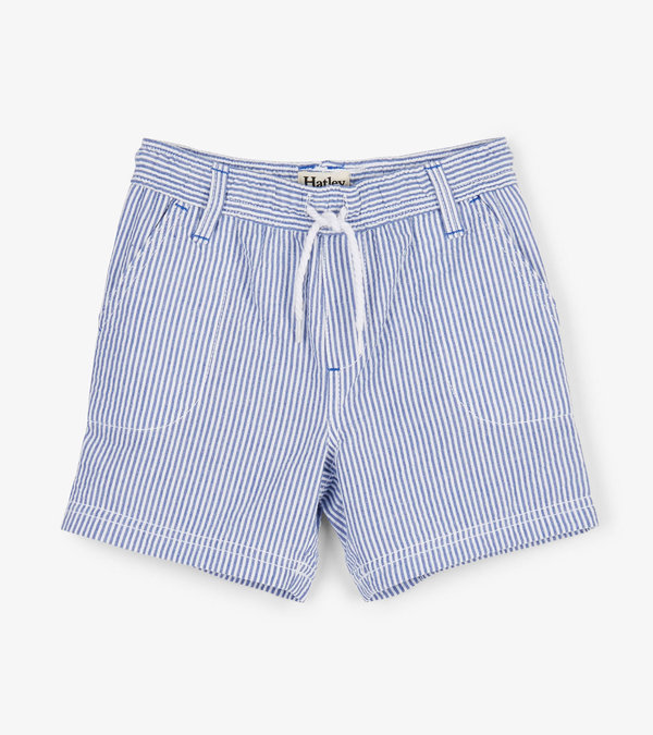 Blue Stripes Woven Shorts