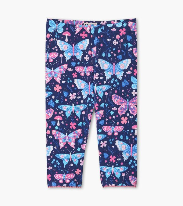 Botanical Butterfly Capri Leggings