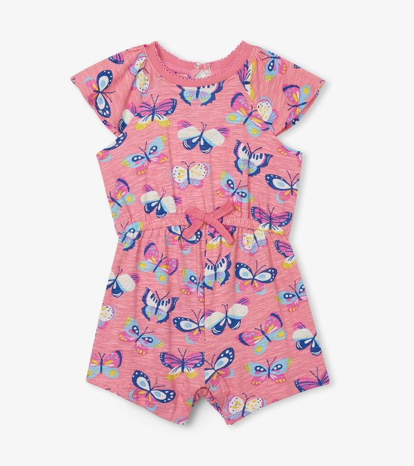 Butterfly Party Baby Layered Romper