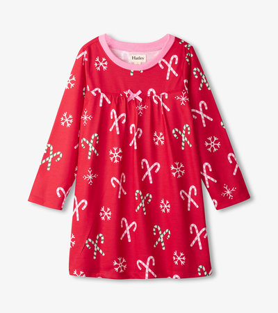 Candy Canes Long Sleeve Nightdress