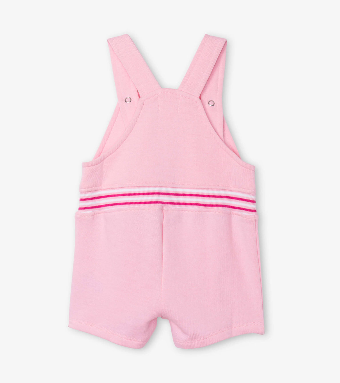 View larger image of Candy Pink Baby Overalls
