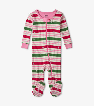 Candy Stripes Footed Coverall