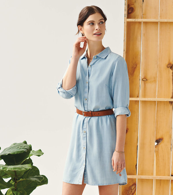 Cara Shirt Dress - Denim