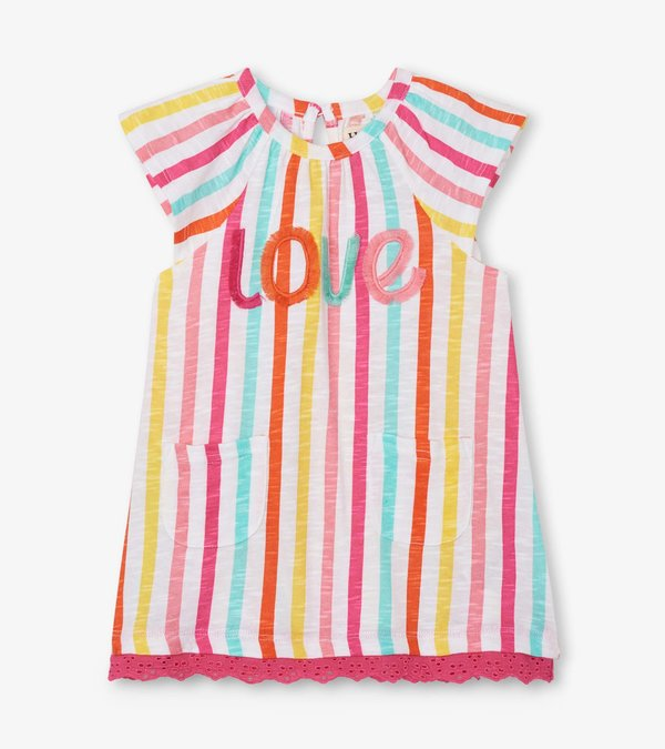 Carnival Stripes Raglan Dress