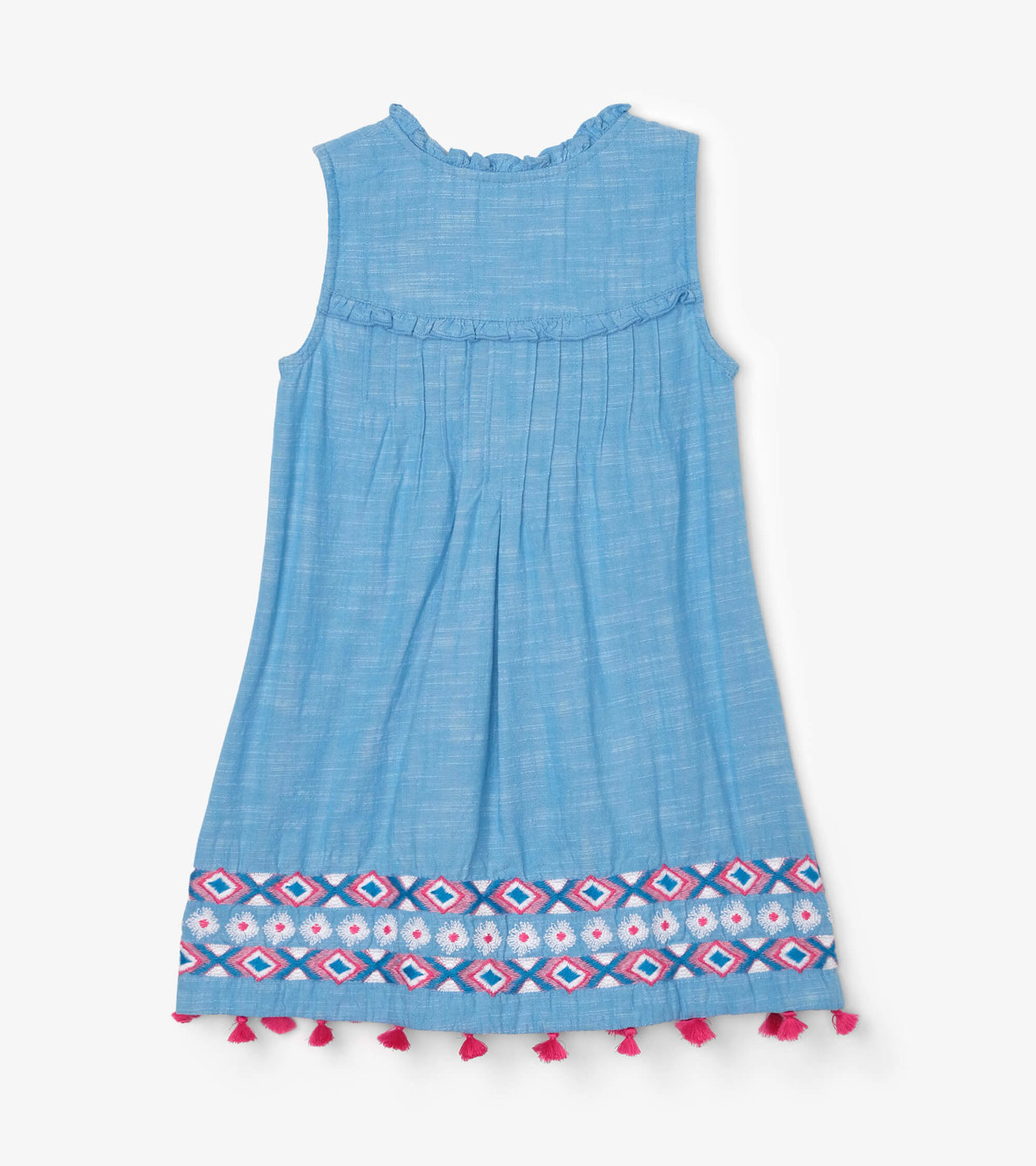 View larger image of Chambray Floral Pin Tuck Dress