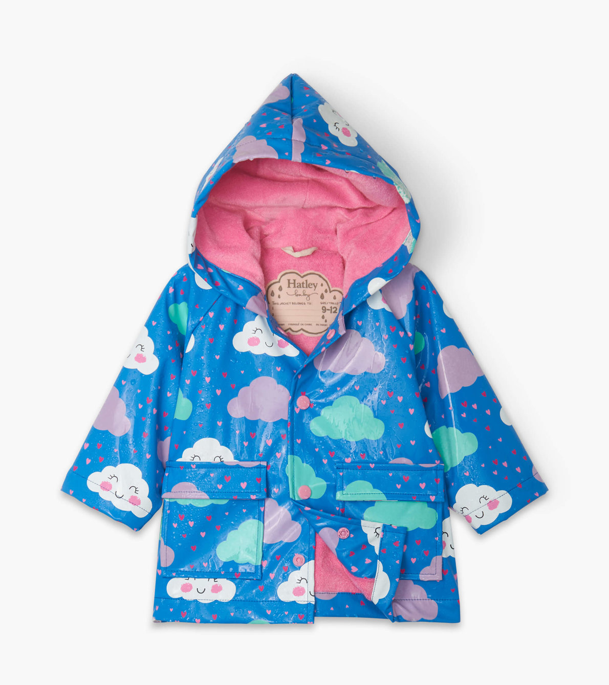 View larger image of Cheerful Clouds Colour Changing Baby Raincoat