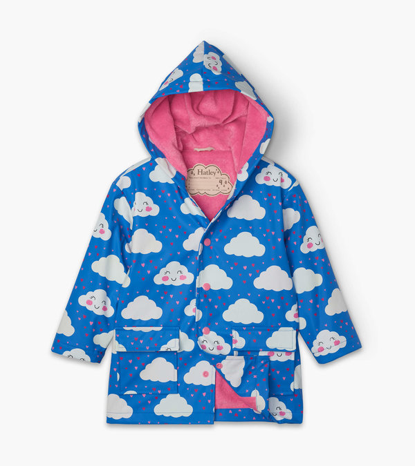 Cheerful Clouds Colour Changing Raincoat