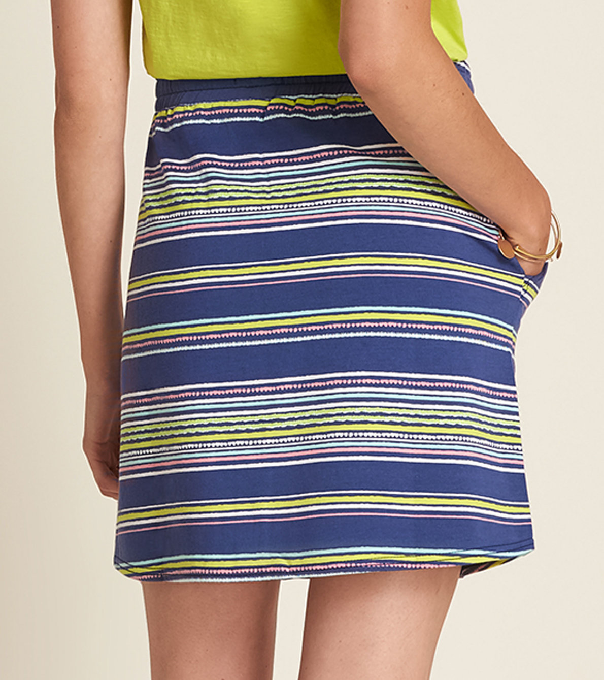 View larger image of Christine Skirt - Textured Stripes