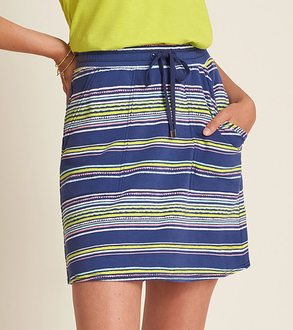 Christine Skirt - Textured Stripes