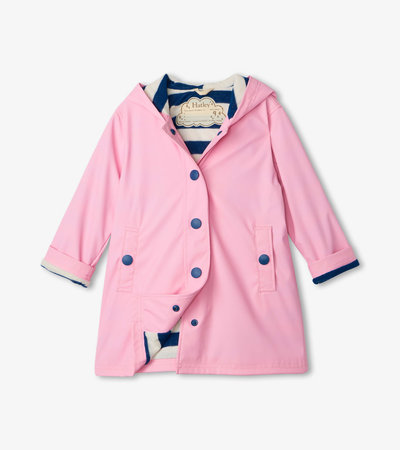 Classic Pink with Navy Stripe Lining Splash Jacket