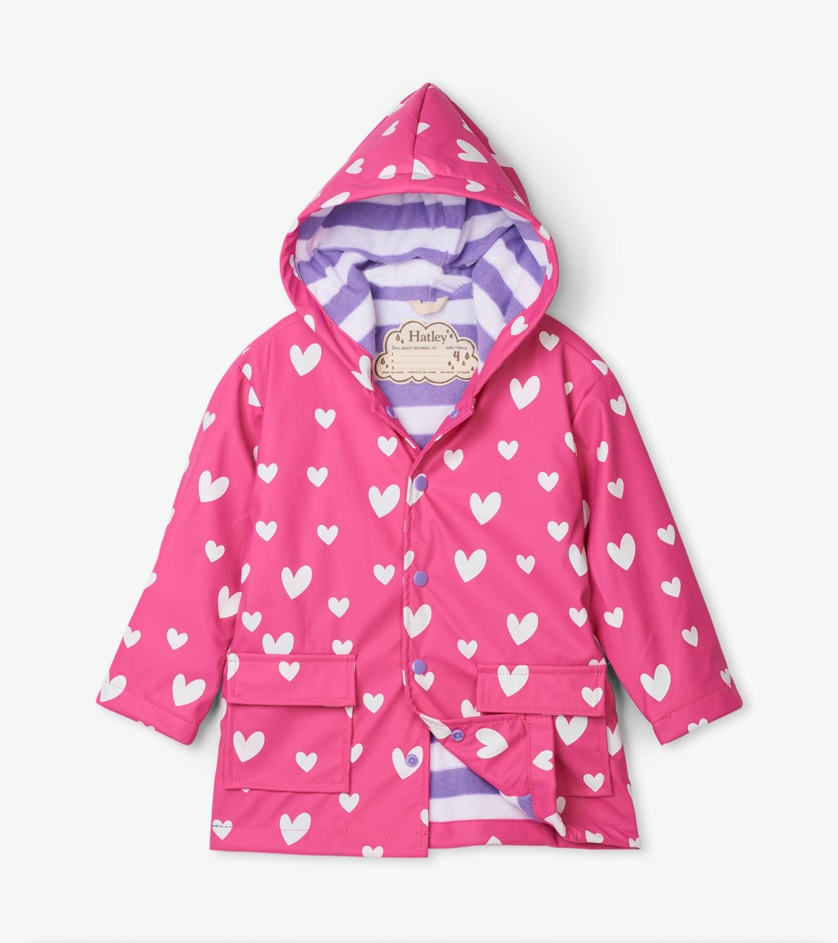 View larger image of Colour Changing Sweethearts Raincoat