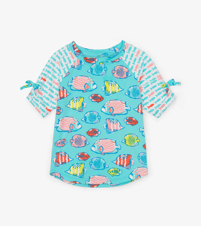 Colourful Fishies Short Sleeve Rashguard