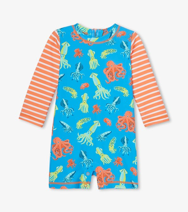 Colourful Octopuses Baby One-Piece Rashguard