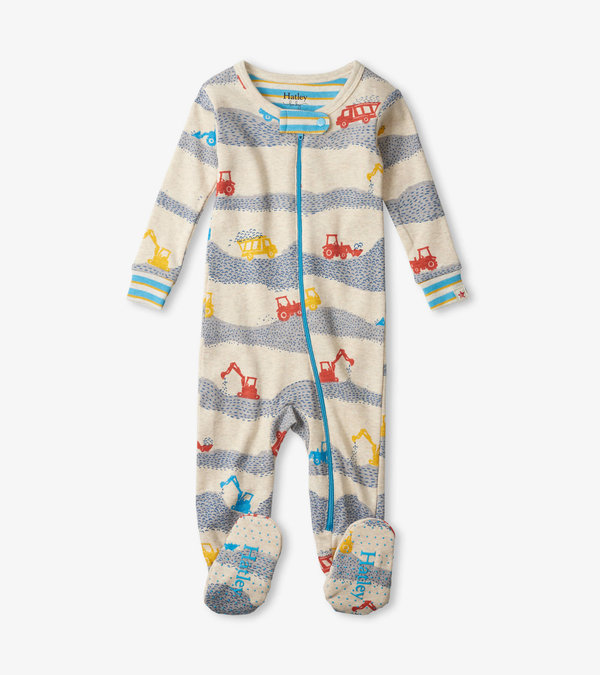 Construction Site Organic Cotton Footed Coverall