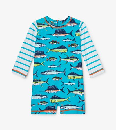 Cool Fish Baby One-Piece Rashguard