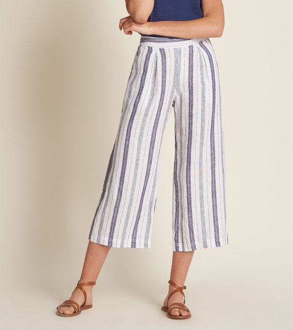 Cotton Linen Culottes - Patriot Blue