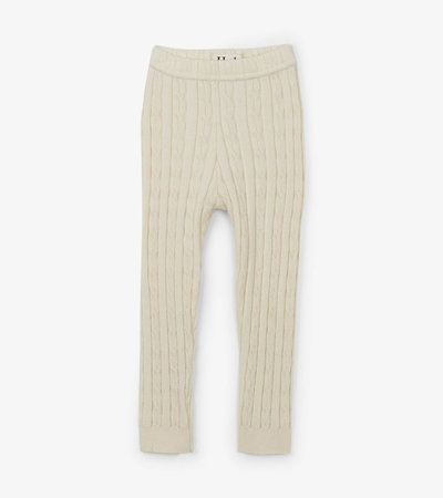 Cream Cable Knit Baby Tights