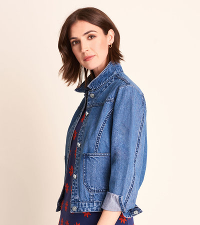 Cropped Jacket - Denim