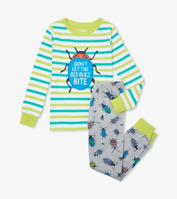 Curious Critters Cotton Appliqué Pajama Set