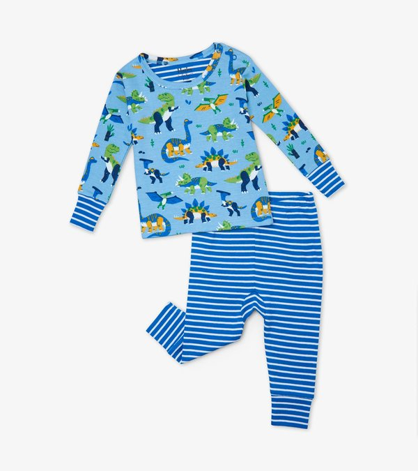 Curious Dinos Organic Cotton Baby Pajama Set
