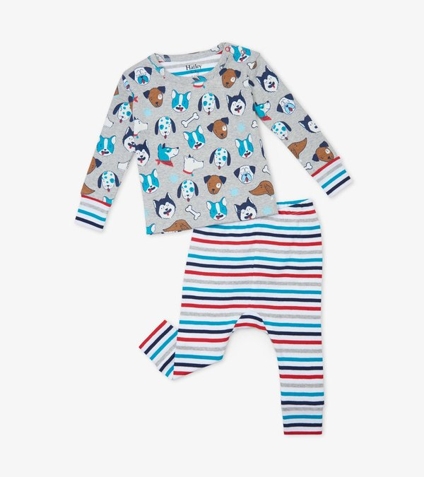 Cute Pups Organic Cotton Baby Pajama Set